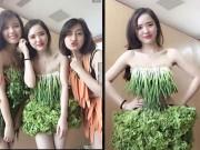 Thời trang - Váy sexy từ xà lách, cải thảo, rau cần ở Vĩnh Phúc gây sốt mạng xã hội