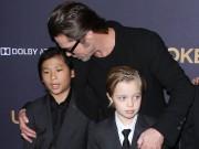 Làng sao - Trong khi Maddox vẫn tức giận với Brad Pitt, Pax Thiên, Shiloh muốn ở với bố