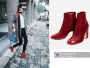 Thời trang - Bóc giá đôi bốt đỏ tuyệt đẹp đang hot nhất lúc này của Thanh Hằng