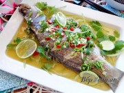 Bếp Eva - Cá hấp chan nước mắm chanh nóng hổi, ngon tuyệt