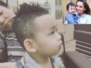 Con trai Hoa hậu Diễm Hương  & quot;gây sốt & quot; với kiểu tóc mới cực chất