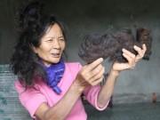 Tin tức - Lạ kỳ cụ bà có mái tóc tự kết hình đầu rồng