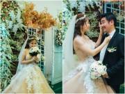 Làng sao - Khánh Hiền quá đỗi hạnh phúc bên ông xã Việt kiều trong đám cưới cổ tích