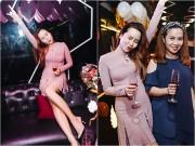 Làng sao - Vắng chồng, Lưu Hương Giang đẹp ngọt ngào đón sinh nhật bên chị gái