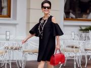 Thời trang - Diễm My rạng ngời tuổi 50 với những chiếc váy đen kinh điển