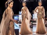 Thời trang - Huyền My đẹp tựa nữ thần khi làm vedette tại tuần lễ thời trang Malaysia