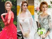 Thời trang - Á hậu Thanh Hoài thay 4 mẫu váy cưới bên mỹ nam ngoại quốc