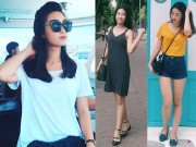 Thời trang - Thời trang đường phố giản dị không ngờ của hoa hậu Mỹ Linh