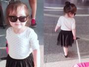 Làng sao - Con gái Elly Trần sành điệu như thiếu nữ ở sân bay