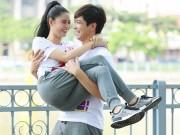 Làng sao - Tim hôn và bế bổng bà xã Trương Quỳnh Anh khi cùng nhau tập chạy