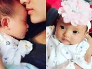Làng sao - Hồng Quế hạnh phúc nhân dịp con gái tròn một tháng tuổi