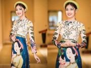 Thời trang - Cận cảnh vẻ đẹp cổ điển của Á hậu Thanh Tú khi diện áo dài cách tân