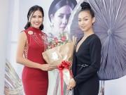 Mai Ngô xinh đẹp bất ngờ khi đến chúc mừng Nguyễn Thị Loan