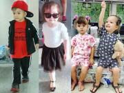 Thời trang - Thời trang sân bay không chịu thua kém siêu sao của các nhóc tì sao Việt