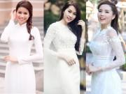 Thời trang - Chẳng cần đồ hiệu, Phạm Hương và Kỳ Duyên vẫn đẹp thoát tục với áo dài trắng