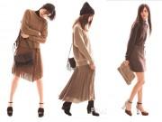 Thời trang - Những kiểu phối chân váy đẹp miễn chê cho mùa đông