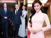 Thời trang - Á hậu Huyền My mặc áo dài trắng tuyệt đẹp đón hoàng tử Anh