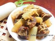 Bếp Eva - Bò kho củ cải mềm ngon đậm đà cho cuối tuần