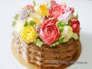 Làm bánh hoa kem bơ tuyệt đẹp dành tặng thầy cô dịp 20-11