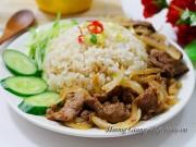 Bếp Eva - Cơm chiên sốt thịt bò đơn giản mà ngon