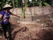 Tin tức - Hiện trường thi thể 2 bé gái bị chôn trong vườn