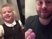Tin tức - Bố mẹ sửng sốt khi con gái tiểu học được cầu hôn bằng nhẫn kim cương