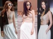Thời trang - Sao Việt khoe ngực mỏng dính với áo bra dây táo bạo