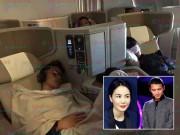 Làng sao - Bắt gặp Vương Phi và Tạ Đình Phong ngủ mê mệt trên máy bay