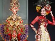 Trang phục dân tộc tốn tiền tỷ nhưng bị ví như váy áo trong game online của người đẹp Việt