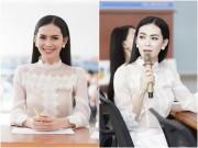 Sao Việt - Người đẹp được yêu thích nhất HH Hoàn vũ về trường cũ làm giám khảo