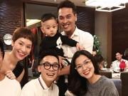 """Làng sao - """"Bà bầu"""" Tăng Thanh Hà trẻ trung đi sinh nhật con trai Trà My Idol"""