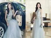 Làng sao - Hoa hậu Thu Thảo ngồi xế hộp sang trọng đến dự sự kiện tại Cần Thơ