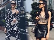 Thời trang - Thời trang đường phố sao Việt đẹp: Hoàng Thùy khoe nội y táo bạo