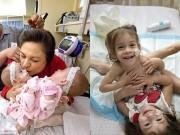 Làm mẹ - Sinh ra chung tử cung, hai cô bé này vẫn lớn lên xinh đẹp