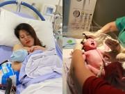Bà bầu - Trang Trần lần đầu tiết lộ ảnh đi đẻ tại bệnh viện 5 sao