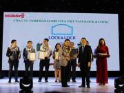 Tin tức thị trường - Lock&Lock nhận giải thưởng Top 10 sản phẩm, dịch vụ tin & dùng năm 2016