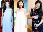 """Thời trang - 7 hoa hậu Việt chứng minh nhan sắc """"xịn"""" khi mang bầu vẫn như hoa như ngọc"""