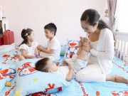 Tin tức giải trí - Ốc Thanh Vân: Được ngã mình lên chiếc giường ấm êm bên chồng con, bao mệt mỏi tan biến!
