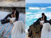 """Trải bạt chụp ảnh cưới, đôi vợ chồng được dân mạng """"cứu nguy"""" bằng photoshop"""