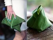 Thời trang - Chiếc túi lấy cảm hứng gói xôi lá chuối Việt Nam gây chấn động làng mốt
