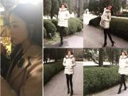 """Làng sao - """"Biểu tượng sắc đẹp"""" Kim Hee Sun khoe chân dài thẳng tắp, thon gọn"""