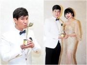 Làng sao - Vợ Lý Hải đẹp mặn mà khi tháp tùng chồng nhận giải Đạo diễn xuất sắc nhất châu Á
