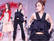 Làng sao - Chung Hân Đồng mặc áo ngắn cũn, đi giày cao 20 cm