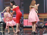 Làng sao - Hương Giang Idol bị ép ôm cả con trăn trên sân khấu