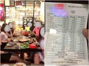 """""""Toát mồ hôi"""" khi nhìn hóa đơn thanh toán một """"bữa ăn nhà người ta"""" lên tới tiền trăm triệu"""