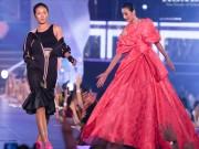 Thời trang - Kelly Bùi, Đỗ Mạnh Cường mang sắc hồng ngọt ngào lên sàn catwalk dài 200m