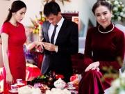 Áo dài đỏ ngày ăn hỏi khiến người ta phải nhớ mãi của sao Việt