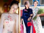 Thời trang - Những mẫu áo dài Tết có