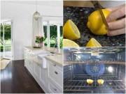 Nhà đẹp - Nhà bếp sạch bong không bóng ruồi giấm chỉ nhờ.. một quả chanh