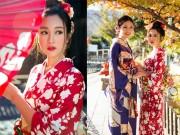 Thời trang - Mỹ Linh, Thanh Tú xinh đẹp như nắng ban mai giữa trời đông Nhật Bản